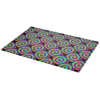 Rainbow Spiral Cutting Board