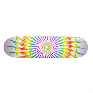 Rainbow Spiral Design: Custom Skateboard