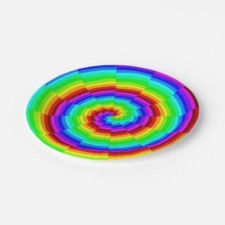Rainbow Spiral Paper Plate