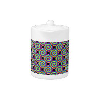 Rainbow Spiral Teapot