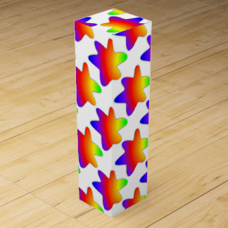 Rainbow Splats Wine Box