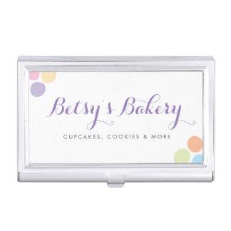 Rainbow Sprinkles Bakery Business Card Holder