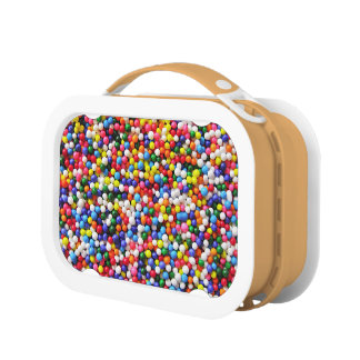 Rainbow sprinkles lunch box