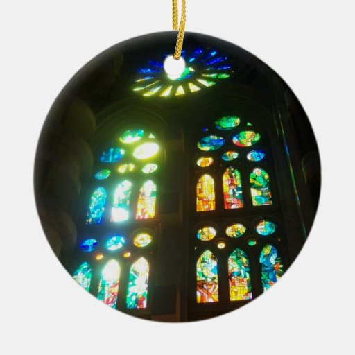 Rainbow Stained Glass Christmas Tree Ornament