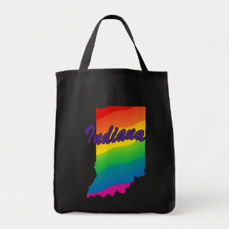 Rainbow State Of Indiana Tote Bag