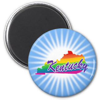 Rainbow State Of Kentucky Magnet