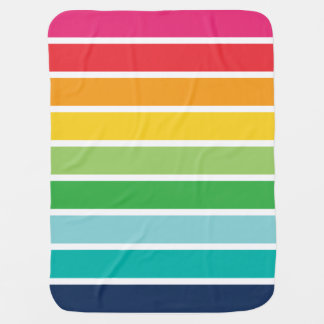 Rainbow Stripe Baby Blanket