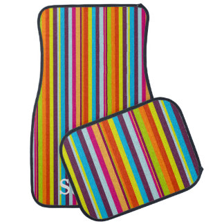 Rainbow Stripes Car Floor Mats