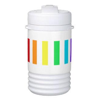 Rainbow Stripes Igloo Beverage Cooler