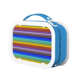 Rainbow Stripes Lunch Box