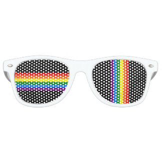 Rainbow Stripes on Black Gay Pride LGBT Support