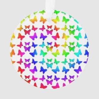 Rainbow Swirl Butterflies Ornament