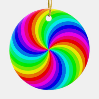 Rainbow Swirl Ornament