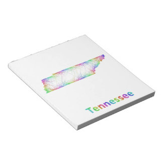 Rainbow Tennessee map Notepad
