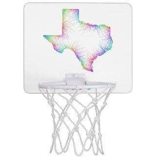 Rainbow Texas map Mini Basketball Hoop