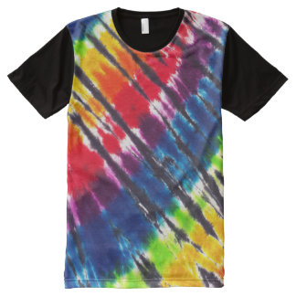 Rainbow Tie Dye All-Over Print T-Shirt