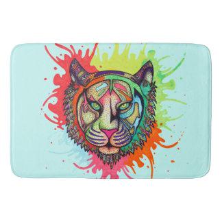 Rainbow Tiger Bath Mats