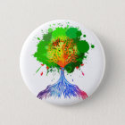 Rainbow Tree of Life 6 Cm Round Badge