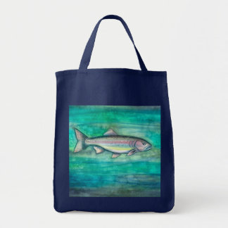 Rainbow Trout Fish Grocery Tote Bag