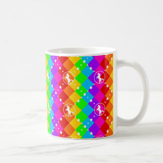 Rainbow Unicorn Basic White Mug