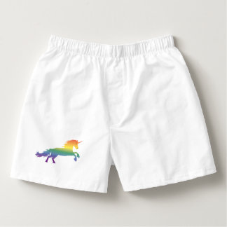 Rainbow Unicorn lgbt Boxers