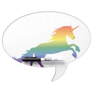 Rainbow Unicorn lgbt Dry Erase Board
