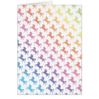 Rainbow Unicorns Card