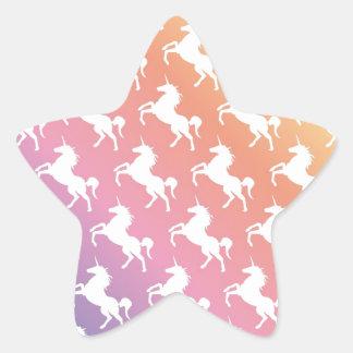 Rainbow Unicorns II Star Sticker