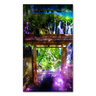 Rainbow Universe's Pathway to Paradise Magnetic Business Card