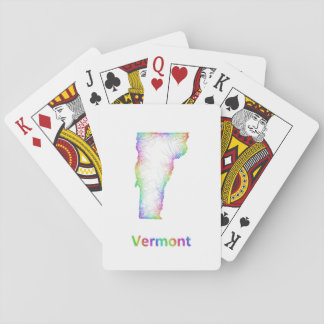 Rainbow Vermont map Playing Cards