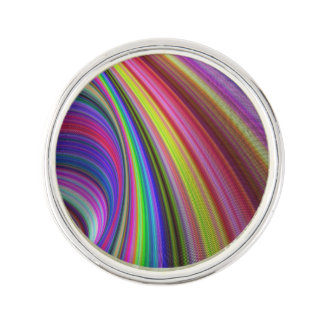 Rainbow vortex lapel pin