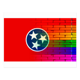 Rainbow Wall Tennessee Postcard