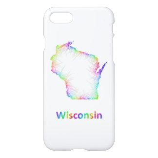Rainbow Wisconsin map iPhone 8/7 Case
