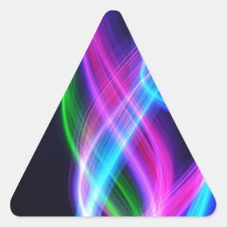 Rainbow with black  laser like design triangle sticker