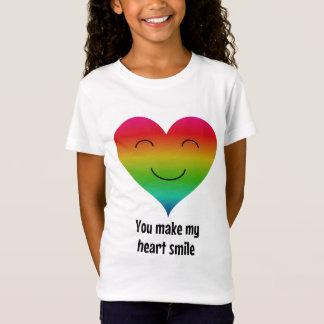 Rainbow you make my heart smile T-Shirt