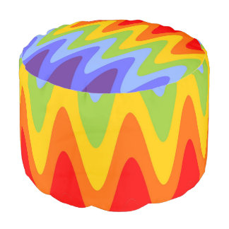 Rainbow ZigZag pattern + your ideas Pouf