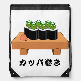 < Raincoat winding > KAPPA-MAKI Drawstring Bag