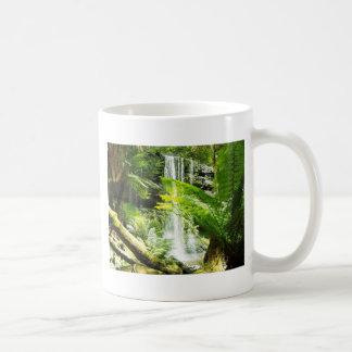 Rainforest Waterfall Basic White Mug