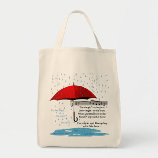 Raining & Sing Alternative Facts Grocery Tote Bag