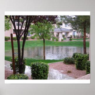 Rainy day in Phoenix Poster
