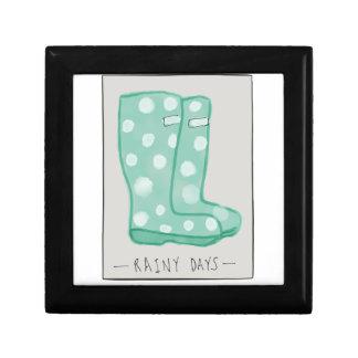 Rainy Days Small Square Gift Box