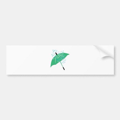 Rainy Umbrella Bumper Stickers