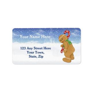Raise A Little Cane Christmas Address Label