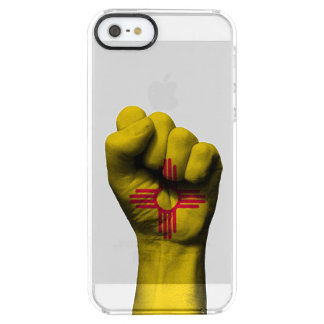 Raised Clenched Fist with New Mexico Flag Clear iPhone SE/5/5s Case