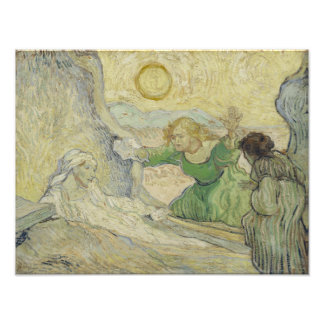 Raising of Lazarus after Rembrandt by Van Gogh Photo Print