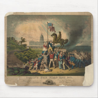 Raising the Flag May 1861 by Louis N. Rosenthal Mouse Pad