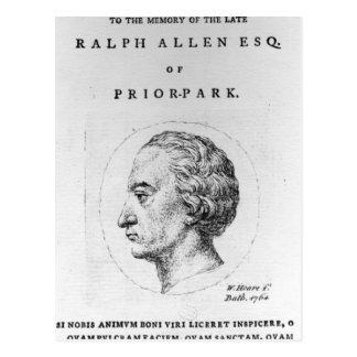 Ralph Allen, 1764 Postcard