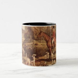Ralph Lambton and his Hounds by James Ward Two-Tone Coffee Mug