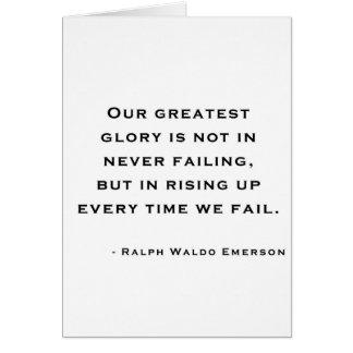 Ralph Waldo Emerson - Motivation Quote Card