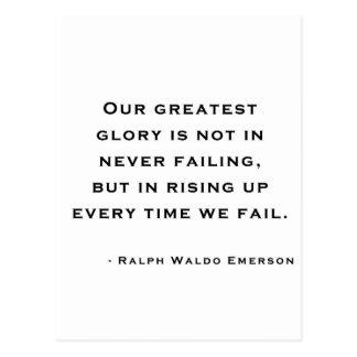 Ralph Waldo Emerson - Motivation Quote Postcard